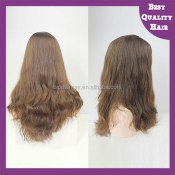 100% European hair Jewish Kosher wigs with machine made weft back