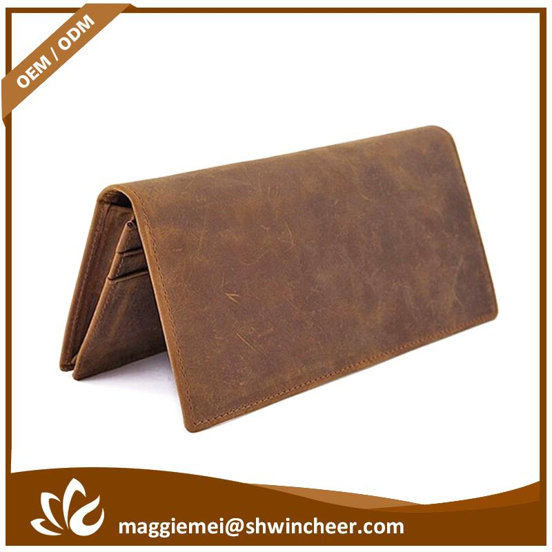 Hot selling men genuine leather wallet, brand name man wallet, cell phone handmade wallet