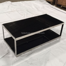 Elegant Square Glass Top Centre Table