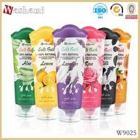 Washami 320g lavender/rose/aloe/lemon/milk/papaya scent sand massage bath salt for Spa