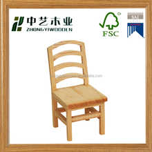 Classic cute design antique custom modern kids wooden mini chair handicraft wholesale