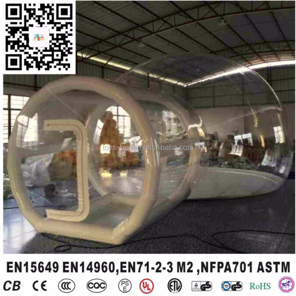 Clear transparent inflatable bubble camping <strong>tent</strong> for outdoor using