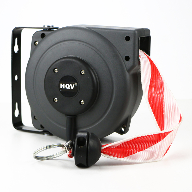 J18 danger boundary zone automatic retractable warning barrier reel tape reel