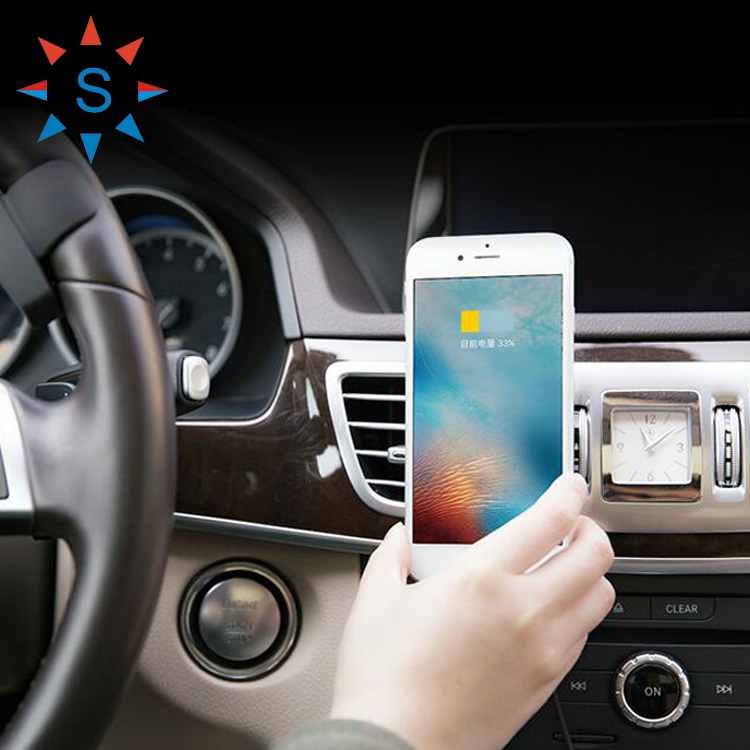 Fantasy Phone Holder Magnet Wireless Charger For Samsung S6 In Car Air Vent