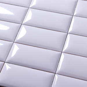 Kitchen Backsplash White Glossy Ceramic Mosaic Subway Tile