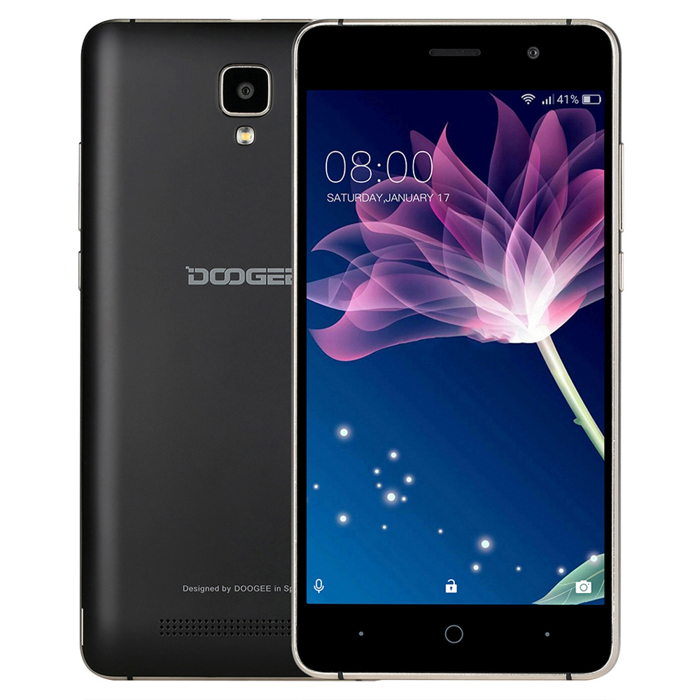 Drop Shipping Original DOOGEE X10 5.0 inch Android 6.0 MTK6570 Quad Core 1.3GHz 3G WCDMA Mobile Phone