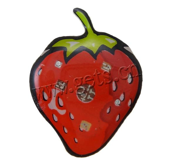 Resin Strawberry Strawberry Brooch Red 792971