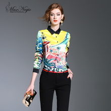 Maxnegio new print latest fashion cutting blouse blouse back neck designs