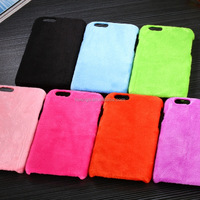 Christmas Xmas Fashionable Winter plush imitation Rabbit Fur PC Hard Cover Case For Apple iPhone 6 6s plus china supplier