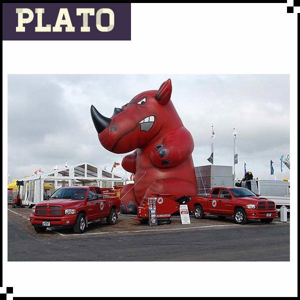 Giant red advertising rhino/inflatable rhino for customized