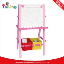 Office & School easel children magnetic painting board stand adjustable wooden art easel for kids