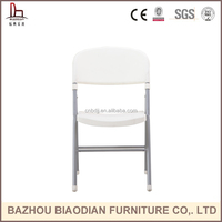 XH-8018 outdoor furniture white plastic chair foldable chair for wedding
