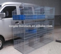 Multifunctional rabbit hutch with pull out tray with CE certificate galvanized welded commercial rabbit cage