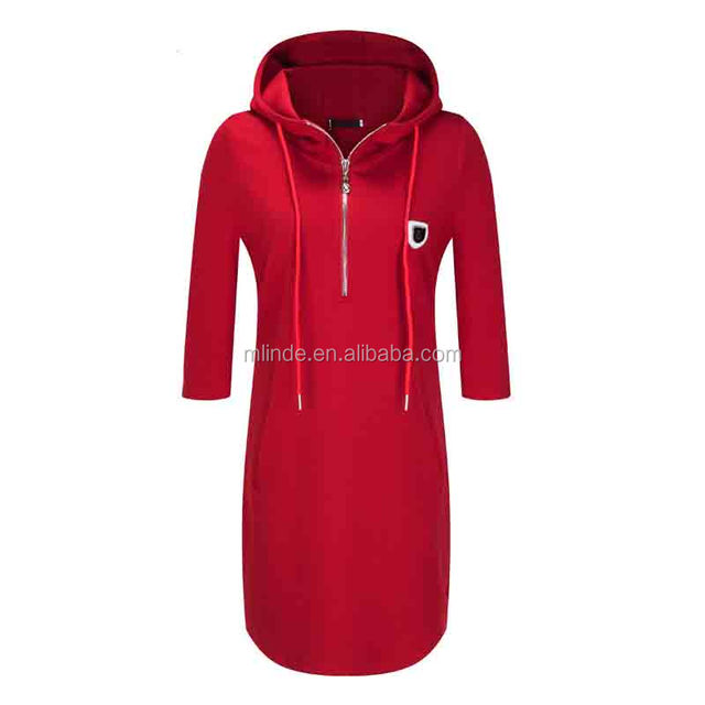Women Apparel High-quality Solid color Hooded Mini Fashion Simple Sexy Autumn Dress Sexy Indian Cheap Prom Dresses Made in China