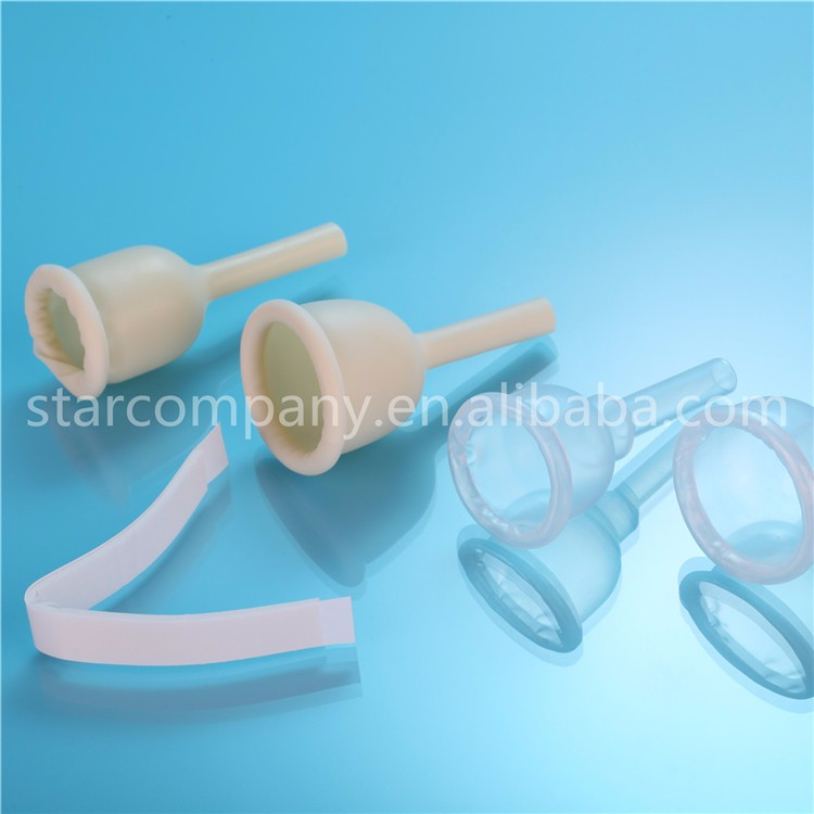 No Self Adhesive all Silicone Male External Condom Drainage Catheter
