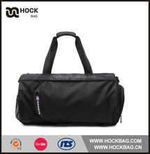 Black barrel shape large volum with mesh pockets travel time trolley bag