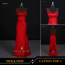 2017 new design red long prom evening dress soeghtti sweetheart sheath evening dress for women