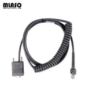 Compatible RS232 COM 3 Meter Coiled Cable For Symbol LS2208 LS4208 DS6708 Barcode Scanner Pda cable