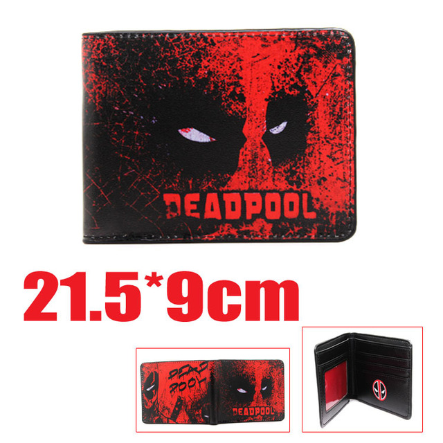 2016 New Arrive PVC and PU Leather Purse American Marvel Comic Deadpool Wallet With Card Holder Dollar Price