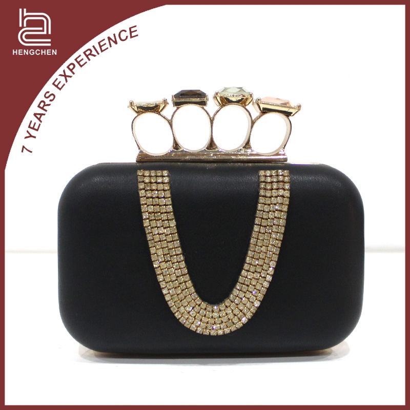 PU skull diamond Evening Bags ladies purses and wallets