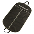 Custom print non woven men's garment carrier bag with webbing handles for travelling