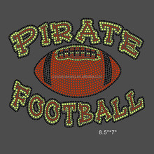 Bling Yellow Football Hot Fix Rhinestone Transfer for