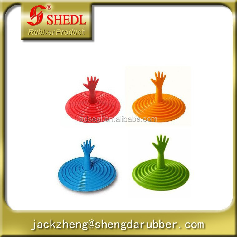 One Help Me Reaching Drowning Hand Vortex Drain Stopper - Assorted Colors