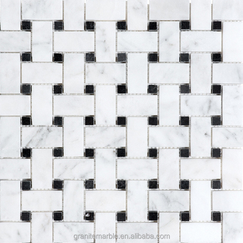 White mosaic tile for bathroom mosaic floor tiles with low price