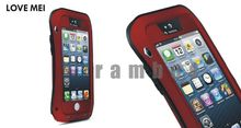 Love Mei Aluminum Metal Case Cover Gorilla Glass for iPhone 4 4s