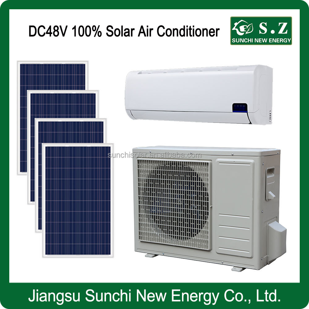 DC48V variable 12000BTU 18000BTU solar power off grid wall split air conditioner with air coolers