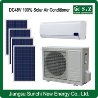 DC48V variable solar power off grid wall split air conditioner with air coolers