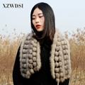 CX-S-40A Women Winter Warm Shawl Real Mink Fur Shawls Thick Knitted Scarf Best Quality