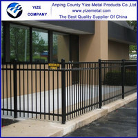 Quality Products Cheap decorative spear top wrought iron fence for homes