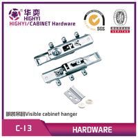 FGV type heavy duty metal concealed cabinet hangers for wardrobe