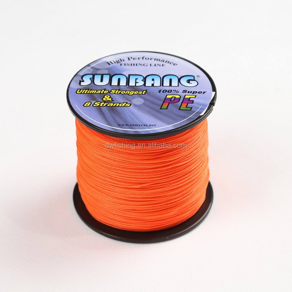 130LB Orange Braided Fishing Line PE As Good Asdyneema Thick Fishing Line ---SUNBANG