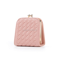 2016 New design fashion candy color pu coin purse