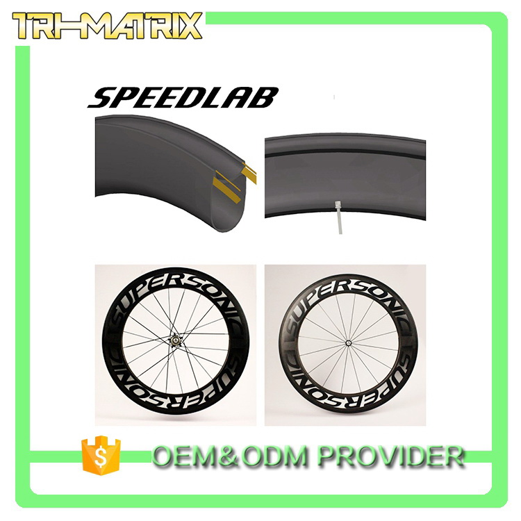 Cheap price new fashion aluminum carbon bicycle wheelset