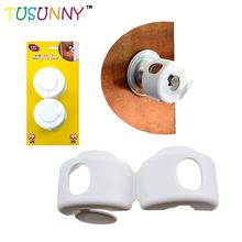 2018 Innovative Child proofing plastic self locking decorative door knob covers