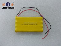 Ni-Cd AA 500mAh 9.6V Rechargeable battery pack