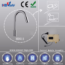 CE RoHS Long Neck Spout Swivel Automatic Sensor Water Tap for kitchen, bathroom