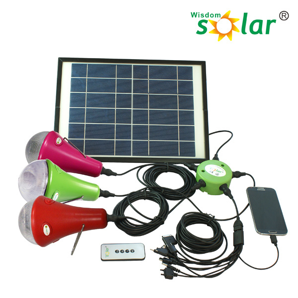 Manufacture wholesale home light solar power system for home use