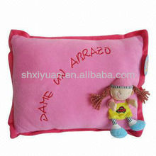 Lovey pink plush toy cushion