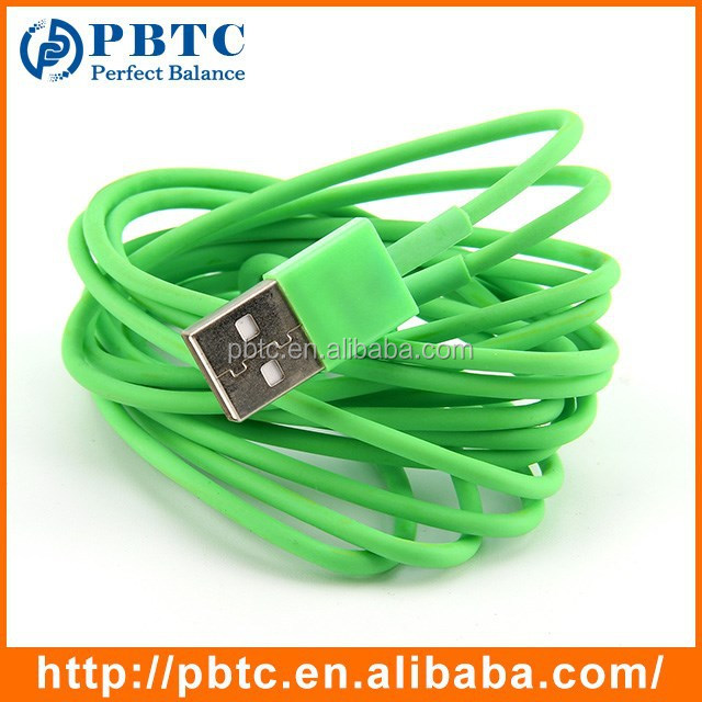 High Quality 1 Meter Green Data Sync Charging USB A To Mini Din 8pin Cable