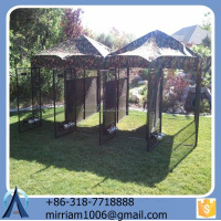New design hot sale strong galvanized wire large outdoor dog kennels/pet houses/pet cages