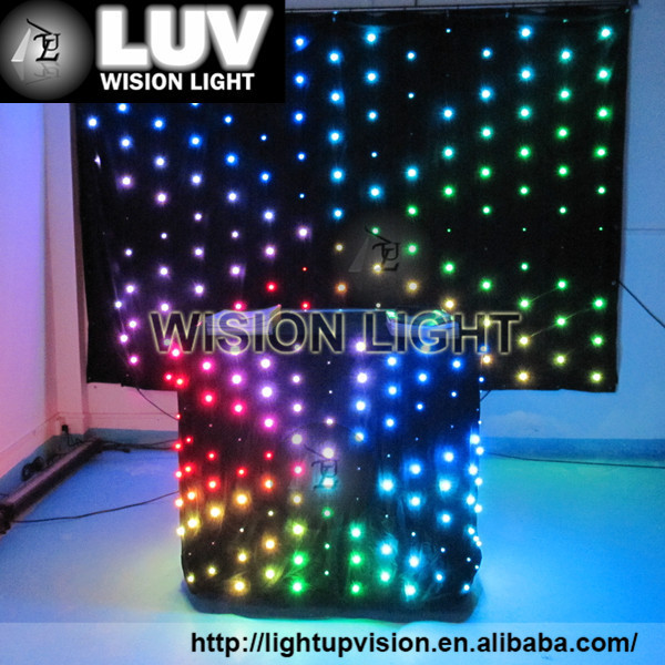 led curtain dj booth use led video curtain