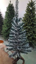 2ft mini artificial snowflake pvc film tips christmas tree