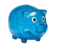 China wholesale Creative plastic Money saving box /coin bank /plastic piggy box