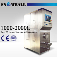 china 1000L 2000L continuous icecream freezer machine ice cream plant machinery
