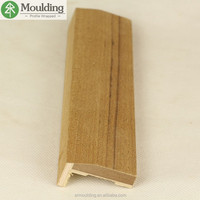 Teak wood veneer wrapped MDF composite wood door frame