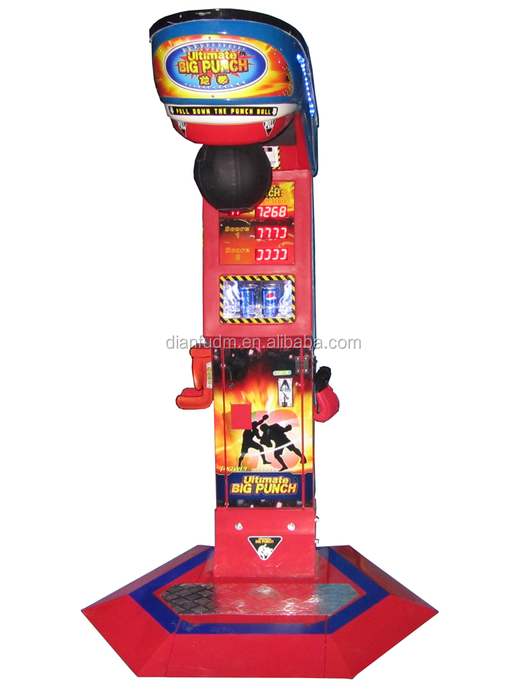 Best selling Hit Hammer games/Arcade Lottery Boxing Punch Game Machine Ultimate Big Punch 3